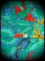 Haut bleu roi imprimé tropical - taille L
