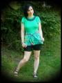 Haut vert imprimé tropical - taille S/M