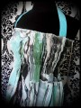 Green turquoise smocked halter dress - one size