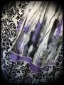 Grey purple smocked halter dress - one size