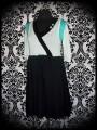 Black/mint/aqua green dress - size S/M