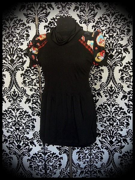 Haut noir détails Saint Valentin rétro - taille M/L