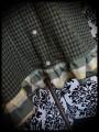 Robe à carreaux kaki vert turquoise - taille S/M