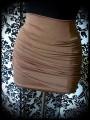 Mini jupe drapée marron tabac - taille S/M
