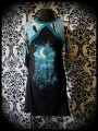 Black Threadless dress multicolored sewn-in shrug - size M/L