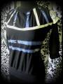Haut noir détails bleus & blancs - taille M/L
