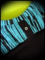 Black top turquoise blue details - size S/M