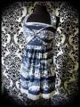 Blue pocket printed dress - size S