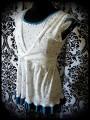 Haut blanc bleu canard motif nuage - taille M/L