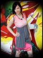 Mini jupe rose drapé gris - taille M/L
