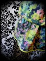 Multicolored loose dress watercolor print - size S/M