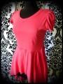 Robe / tunique asymétrique drapée rouge vif - taille M/L