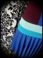 Robe color block bleu roi bordeaux - taille S/M