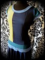Color block midnight blue yellow dress - size M/L