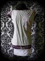 Color block white light grey dress Threadless print - size S/M