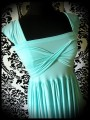 Draped dress w/ bow - made to order