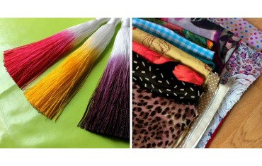 March new pieces: colorful scarves and snoods